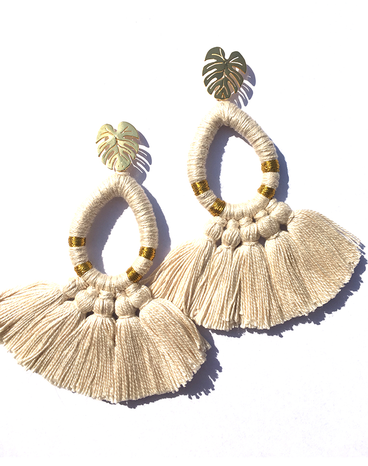 HELICONIA EARRINGS <br>COLOMBIA
