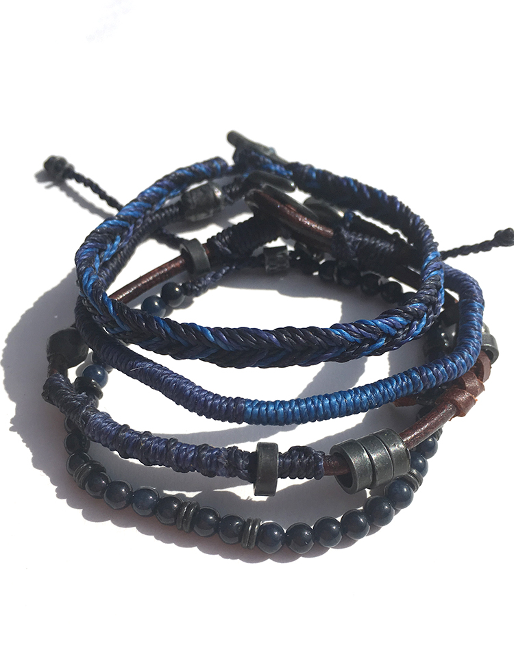 EARTH BRACELETS<br>SET OF 4<br>GUATEMALA